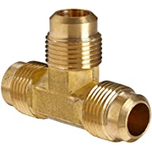 Anderson Metals Brass Compression Tube Fitting, Flare Tee, Tube OD