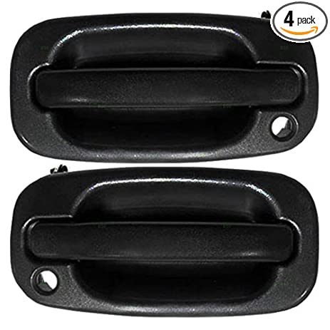 Minimalist 4 Piece Set Front and Rear Outside Textured Door Handles Replacement for Chevrolet GMC Pickup Truck In 2018 - Latest black front door Inspirational