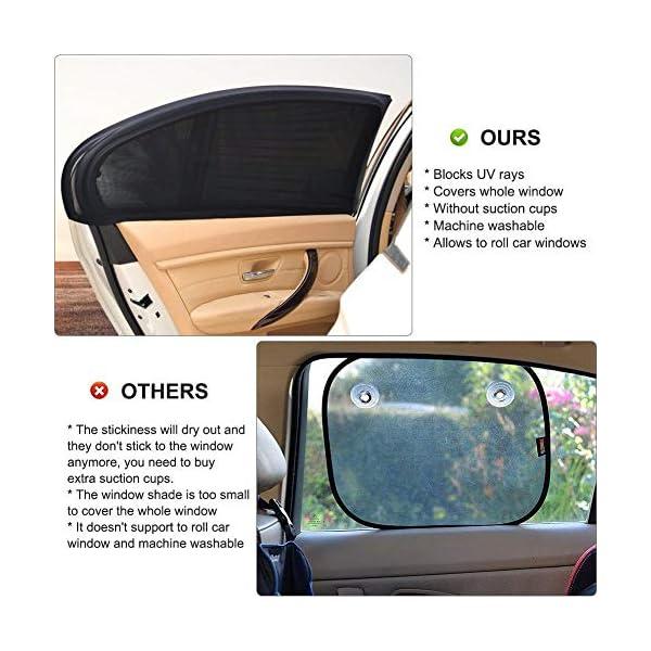 Depory Tendine Parasole Auto Finestrino Laterale per Bambini Universali parasole auto bambini dell'Auto Block Raggi UV… 5 spesavip