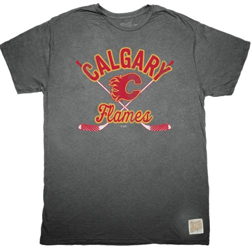 NHL Calgary Flames Youth Boys Tee, X-Large, Charcoal
