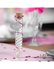 reageerbuizen glazen buisjes met kurk, 10 cm, 48 stuks in doos, bruiloft doop communie