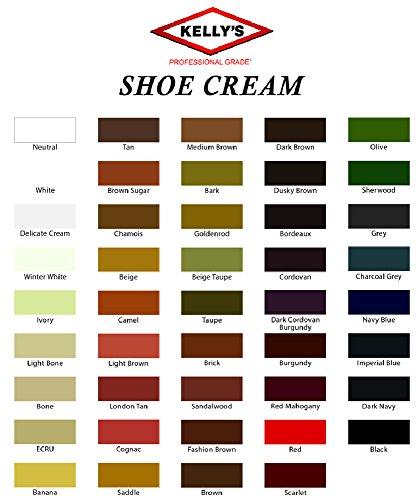 Fiebing 1,5oz Kelly Ceras Naturales Zapatos Crema de Arranque Polaco en Todos los Colores, Rojo (Red Mahogany)