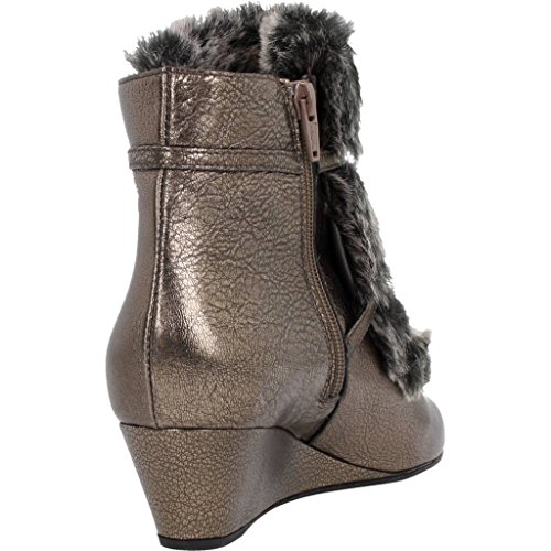 Bottines - Boots, couleur Marron , marque GEOX, modèle Bottines - Boots GEOX D JAUNIE A Marron Marron