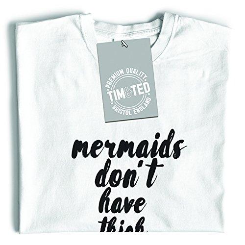 Tim and Ted Le sirene non hanno spazio tra le cosce della coda della sirena corpo Fantasy T-Shirt Da Donna