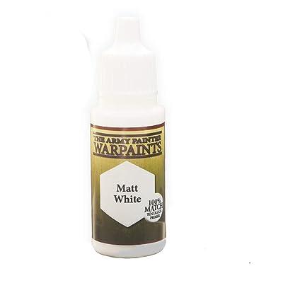 The Army Painter Warpaints, Matt White - Acrylic Miniature Paint in 18 ml Dropper Bottle, White Cup - White Model Paint: Toys & Games