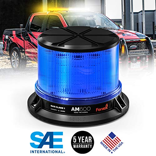 Feniex AM600 High-Intensity LED Beacon, SAE Class 1 (Blue) ()
