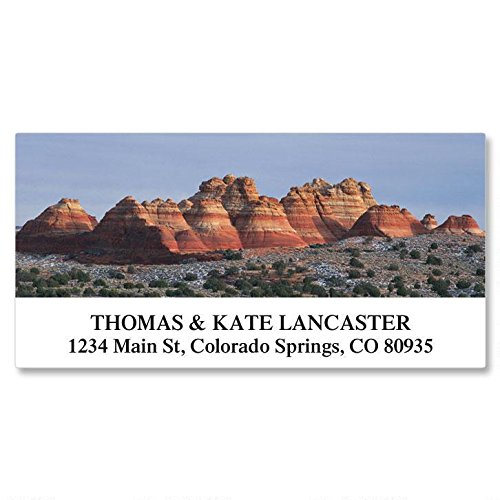 Natural Landscapes Self-Adhesive, Flat-Sheet Deluxe Address Labels (24 Designs)