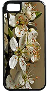 LJF phone case Blueberry Design iPhone 4 iPhone 4S Case romantic white Leaves - Ideal Gift