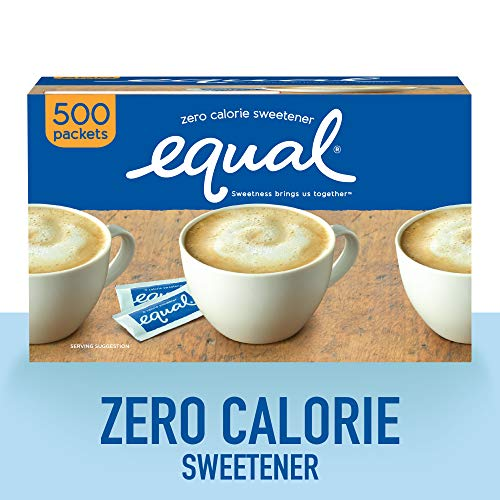 (EQUAL 0 Calorie Sweetener, Sugar Substitute, Zero Calorie Sugar Alternative Sweetener Packets, Sugar Alternative, 500 Count)