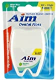Aim Dental Floss 120 Yards- Mint Wax 192 pcs sku# 1227595MA