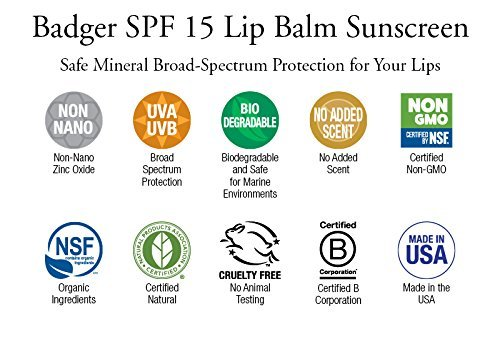 Badger SPF 15 Lip Balm Stick Maybelline Baby Lip Dr. Rescue Just Peach