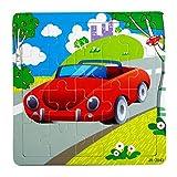 Facial Recognition Os X - DZT1968 1set/20pc Cartoon animal car Wooden Puzzle Educational Developmental Kids Training Toy (F)