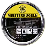 RWS Meisterkugeln .177 Caliber Pellets, Competition 8.2G, 500 count