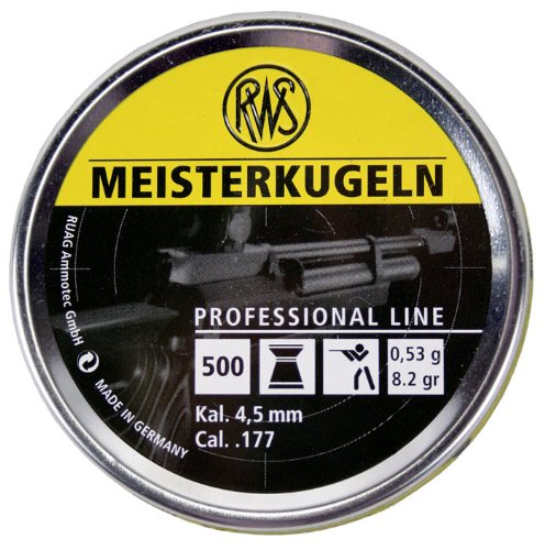 RWS Meisterkugeln .177 Caliber Pellets, Competition 8.2G, 500 count by Umarex USA
