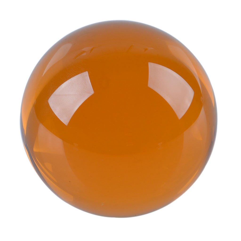 多色透明 水晶玉 50mm クリスタルボール 装飾品 (茶色) B00X6XIO56 茶色 茶色