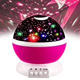 Ouwen Presents Birthday Popular Gifts Ideas for 2-10 Year Old Girls Boys, Star Rotating Night Light for Kids Popular Top Hottest Toys for 3-10 Year Old Boys Girls Toys Age 3-12 Pink OWUKNL03