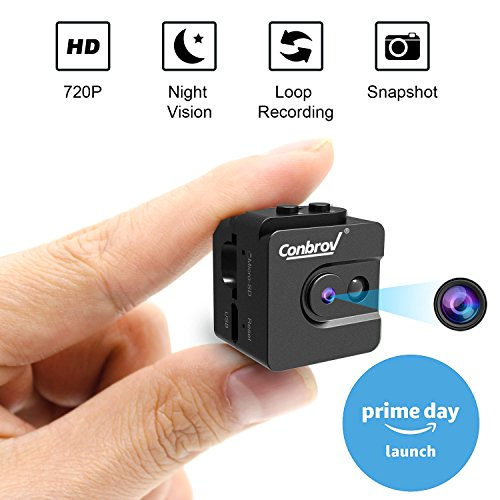 Mini Camera, Conbrov 720P Night Vision Spy Camc...