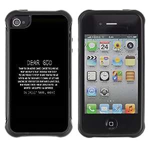 Planetar® ( Amen ) Apple iPhone 4 / iPhone 4S Hybrid Heavy Duty Shockproof TPU Fundas Cover Cubre Case