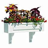 Lazy Hill Farm Designs Hampton Composite PVC Window Box - 36'' (2 Brackets)