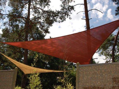 Toldo Triangular para Jardín Color Arena 1.09 x 1.09 x 1.09m: Amazon.es: Jardín