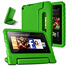 AFUNTA Fire 7 2015 Case,Light Weight Shock Proof Convertible Handle Stand EVA Protective Kids Case for Amazon Fire 7 inch Display Tablet (5th Generation - 2015 Release Only)-Green