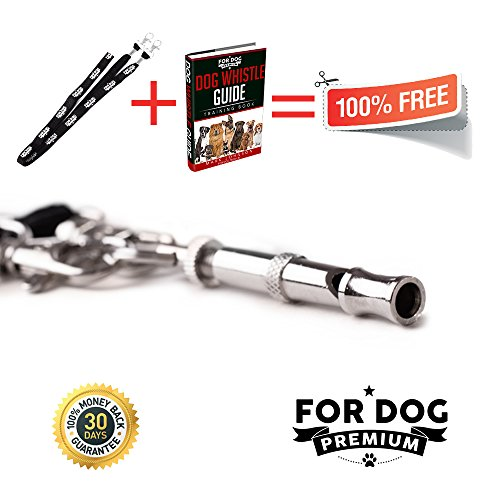 Dog Whistle Complete Bundle for Obedience Training & Repellent Aid - Premium Quality - Stops Dog Barking with FREE BONUS Lanyard and FREE Dog Whistle Training E-Book - 100% Money Back Guarantee