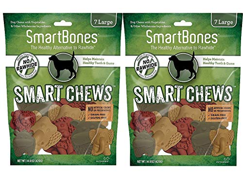 SmartBones Smart Chews Safari Chews for Dogs, Rawhide-Free, Large, 14 Pieces