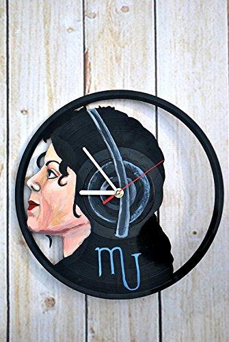 Michael Jackson Party Ideas (Michael Jackson Design HANDPAINTED Vinyl Record Wall Clock - Get Unique Home Room or Office Wall Decor - Gift Ideas For Men and Women - Famous Singer Unique Fan Art)