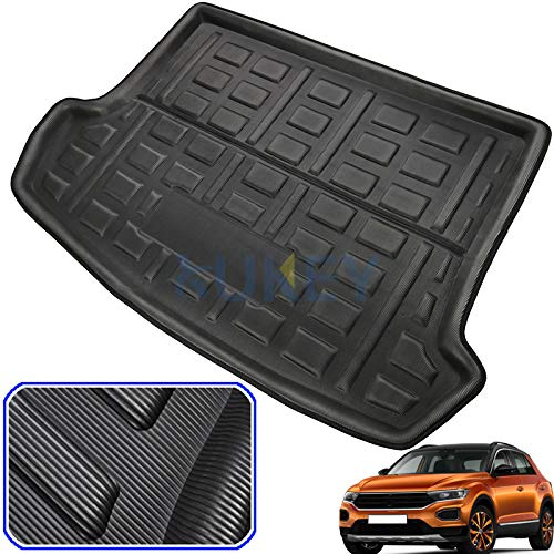XUKEY For T-Roc T Roc 2017 2018 2019 Tailored Boot Liner Cargo Tray Rear Trunk Liner Floor Mat Sheet Carpet Luggage Tray Waterproof