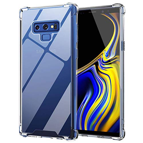 Ztotop Case for Samsung Galaxy Note 9, Hybrid Protective Clear Case Anti-Scratch Shockproof Rugged Hard Back Cover with Soft TPU Bumper Cushion for Samsung Galaxy Note 9,Crystal Clear