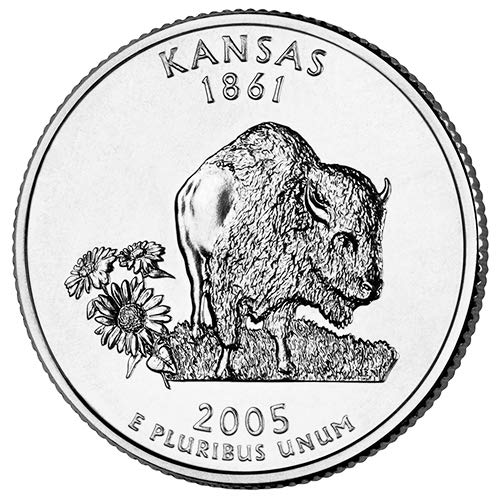 2005 S Clad Proof Kansas State Quarter Choice Uncirculated US - Quarter Coin Cents 25