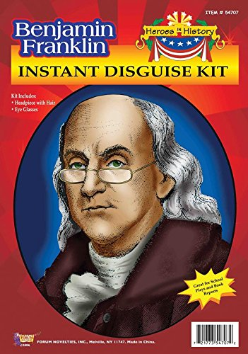 Forum Novelties Benjamin Franklin Kit, Gray, One ()