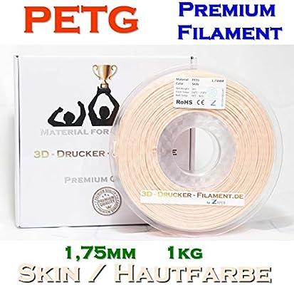 3dz Impresora filamento petg 1,75 mm 1 kg Color de piel: Amazon.es ...