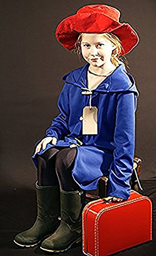 World Book Day-Film RAILWAY BEAR COAT, HAT, SUITCASE & LABEL Children's Fancy Dress Costume - All Ages (TEEN) (TEEN)