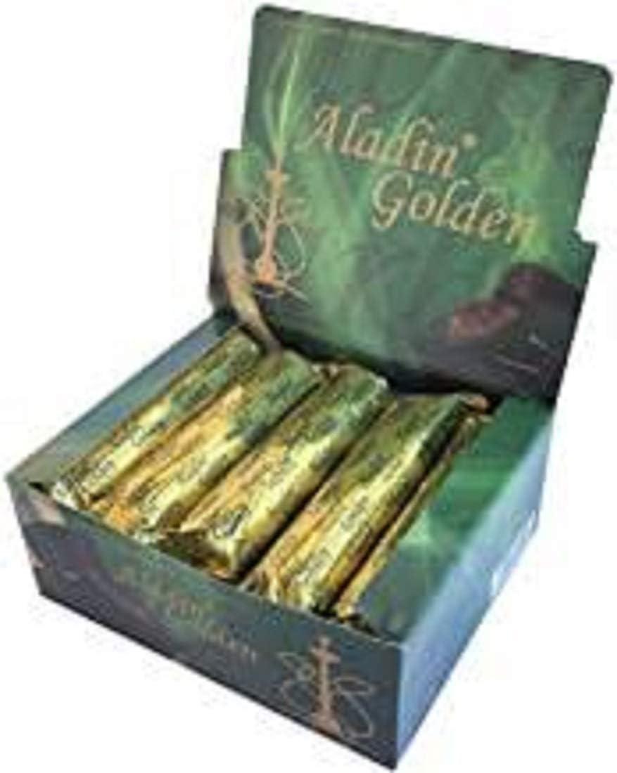 Qaromas Coal Aladin Golden para Shisha, Sahumerio, 100 x33mm
