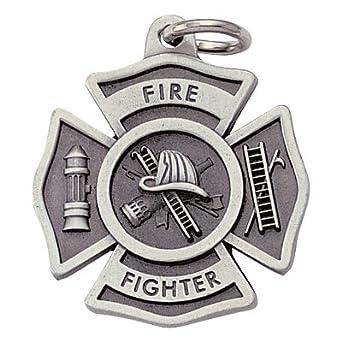 Personalizable bombero Cruz de Malta llavero con acabado en ...