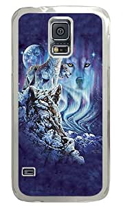 10 Wolves Custom Samsung Galaxy S5 Case Back Cover, Snap-on Shell Case Polycarbonate PC Plastic Hard Case Transparent