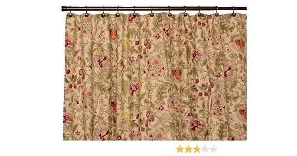 Amazon.com: Imperial Dress Jacobean Floral Bathroom Shower Curtain ...
