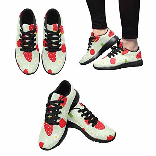 Scarpa Da Jogging Leggera Da Donna Running Running Leggera Easy Go Walking Casual Comfort Scarpe Da Corsa Fragola E Ciliegia Modello Multi 1