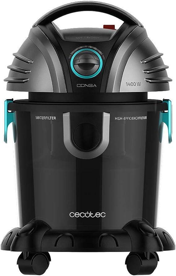 Cecotec Aspirador de sólidos y líquidos Conga Wet&Dry TotalClean Potencia 1400 W, Capacidad 15 litros, 7 Metros Radio de acción, 5 Accesorios: Amazon.es: Hogar