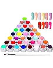 36 kleuren UV-kleurengel, UV-gel-set gelkleuren voor nagels, nail art-kleurengel-set, gelnagels kleuren, nagellak nagellak voor nail art nagelontwerp