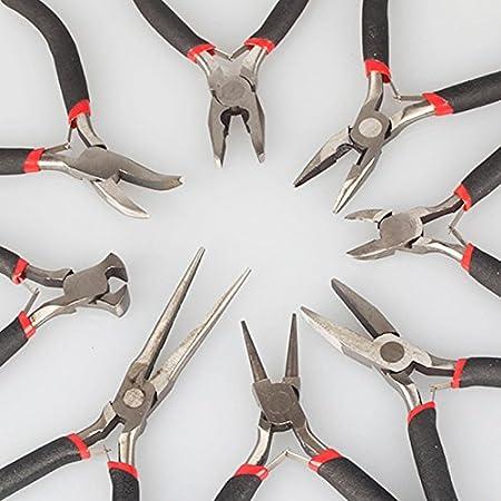 FLORATA Jewelry Making Tools 1Pcs//8 Pcs Mini Extra Long Nose Plier 6 Inch 150mm Tool Kit