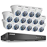 Cheap ANNKE 5 in 1 16-Channel 1080P Home Security Cameras System 16x HD 2.0 MP Waterproof Night Vision Indoor/Outdoor Cameras, Quick Remote Access Setup Free App-No HDD