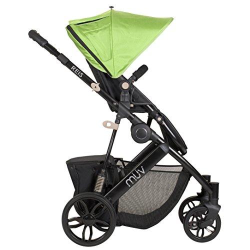 Muv Baby Trend Reis Stroller, Satin Black/Kiwi