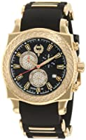 Brillier Men's 01.2.2.1.11.5 Chronograph Method Air Gold-Tone Black Rubber Watch from Brillier