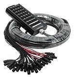 XSPRO 24 x 8 Channel 100' Pro Audio Stage Snake Combo XLR 1/4'' Return 24x8x100