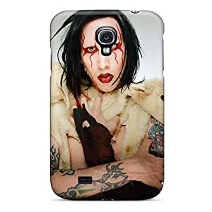 Shock Absorption Cell-phone Hard Cover For Samsung Galaxy S4 With Unique Design HD Marilyn Manson Band Image ChristopherWalsh