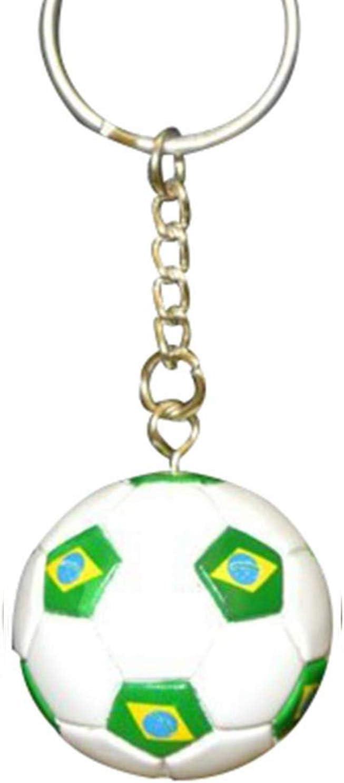 Brasil fútbol de fútbol futsbol bola llavero llaveros: Amazon.es: Deportes y aire libre