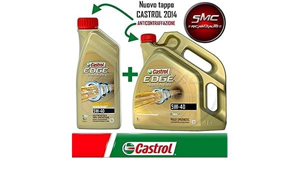 Castrol, Edge Turbo Diesel FST 5W40 - Aceite para motor, 5 litros: Amazon.es: Coche y moto