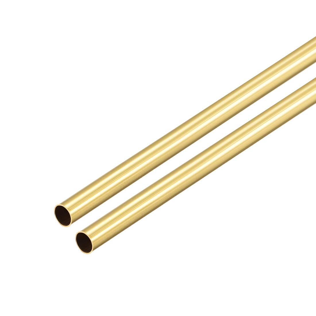 uxcell Brass Round Tube 300mm Length 4mm OD 0.2mm Wall Thickness Seamless Straight Pipe Tubing 2 Pcs